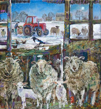 Alex Williams – Feeding Sheep in the Moonlight