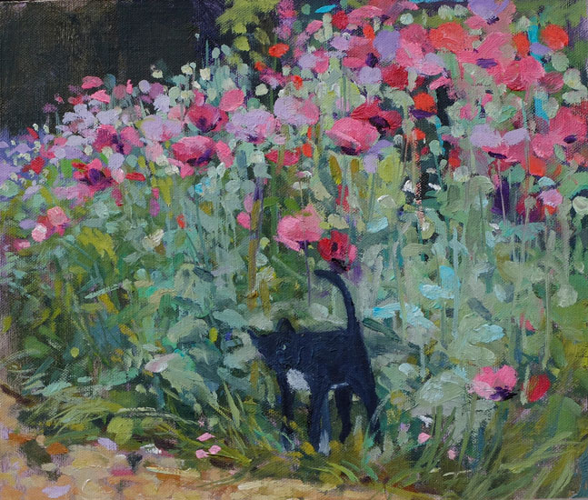 Pamela Kay – Cat in the Poppies