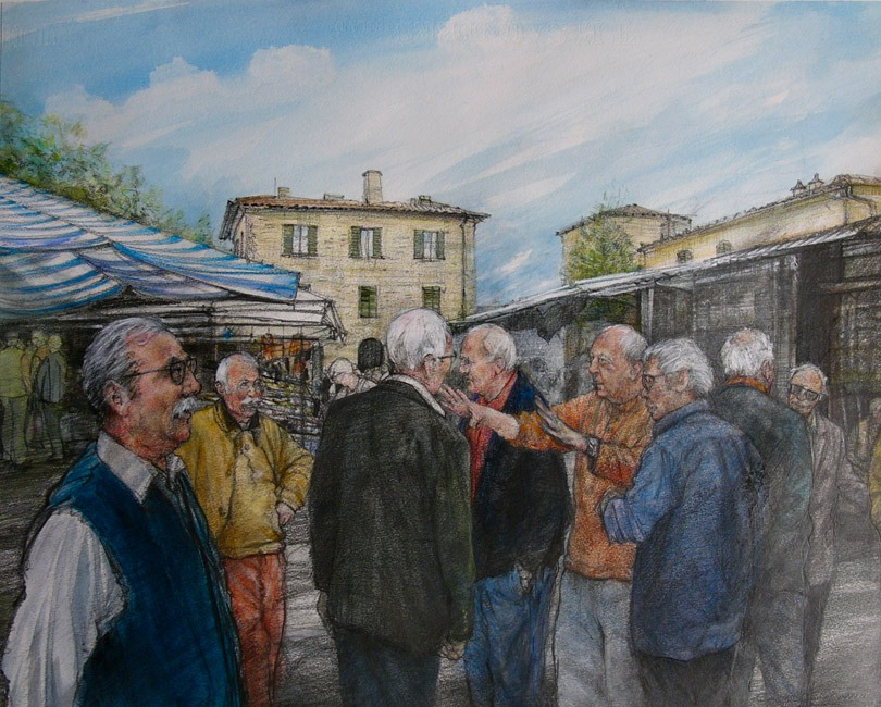 David Carpanini – Conversation piece Buonconvento Market