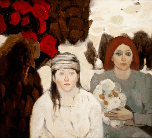 Ursula McCannell – Girl With the White Flowers c1981