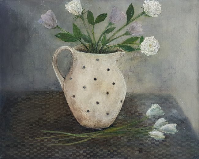 Karen Edwards – Still Life with White Flowers