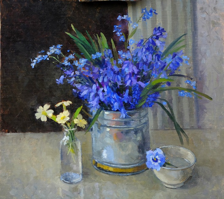 Pamela Kay – Bluebells and Forget-me-nots