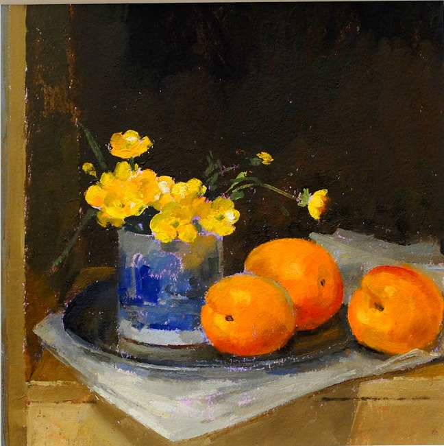 Pamela Kay – Buttercups and Three Apricots