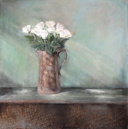 Karen Edwards – Still Life with White Roses