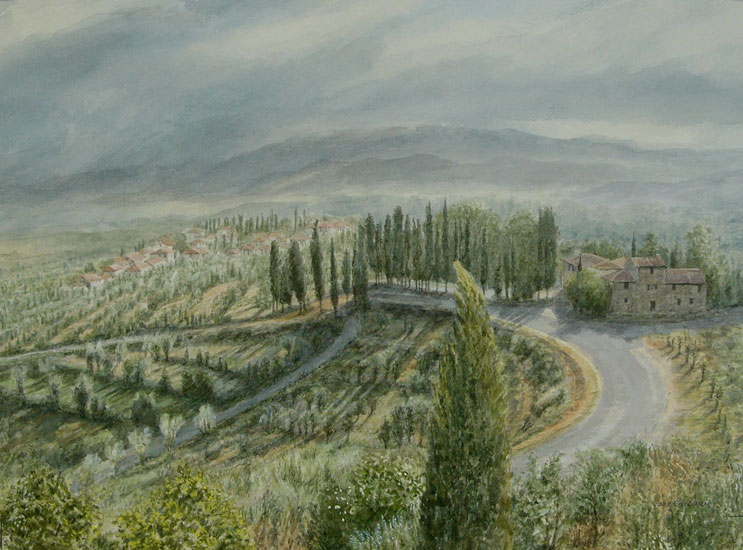 Jane Carpanini – View of Donnini From the Villa Pitiana