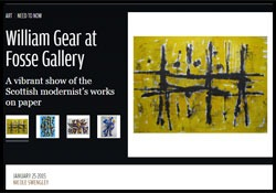 'William Gear at Fosse Gallery'