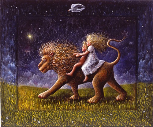 P J Crook – The Infants and the Lion