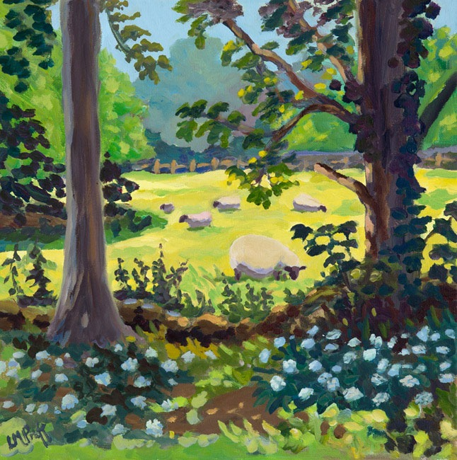 Lucy Pratt – Sheep in Wild Garlic