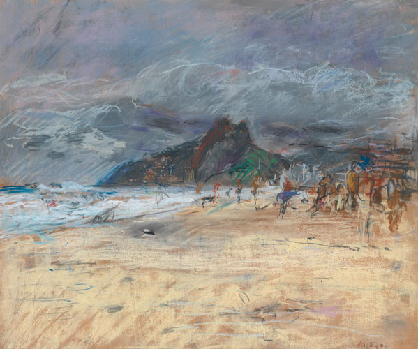 Anthony Eyton – Stormy Beach, Ipehema