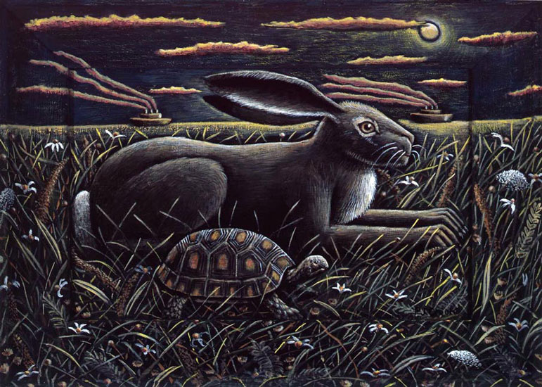 P J Crook – The Hare and the Tourtoise