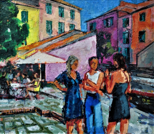 Anthony Yates – Girls in the Square, Montmarcello