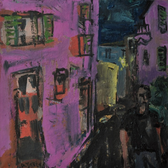 Anthony Yates – Street at Night, Montemarcello