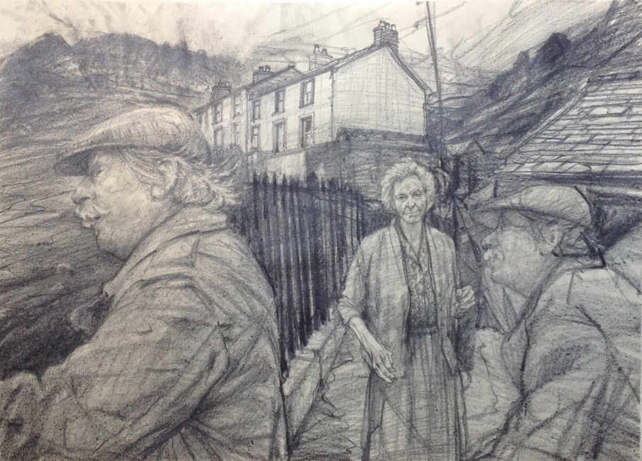 David Carpanini – Kyffin Studies 2 drawing in Nant Peris C1987