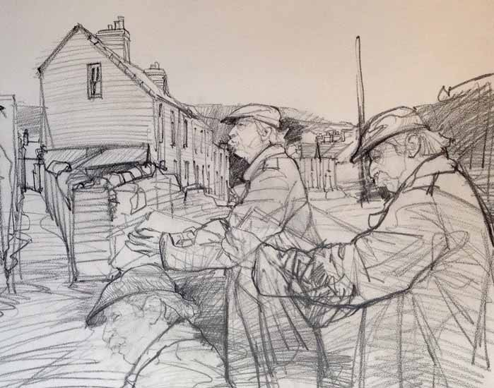 David Carpanini – Kyffin Drawing in Llanberis