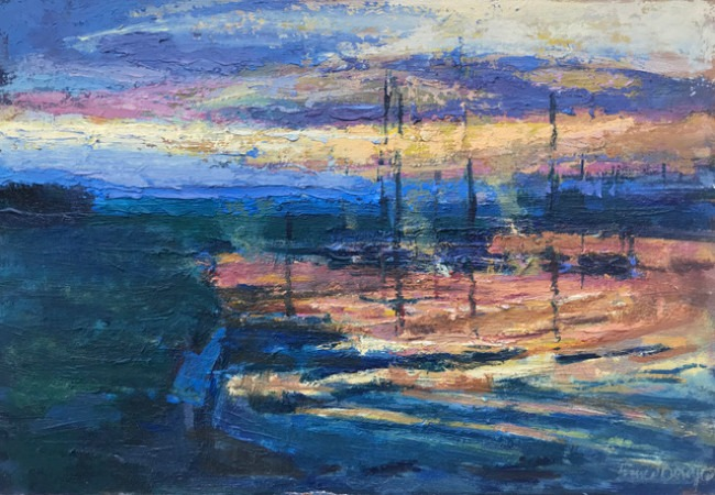 Francis Bowyer – Sunset on the Blyth River