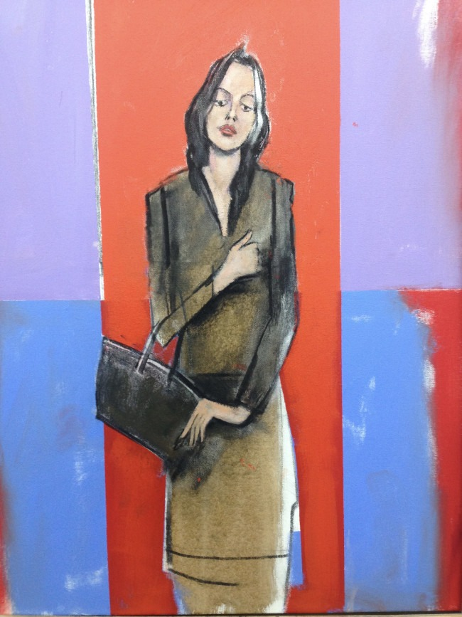John Wragg - Painting - Girl With Hand Bag