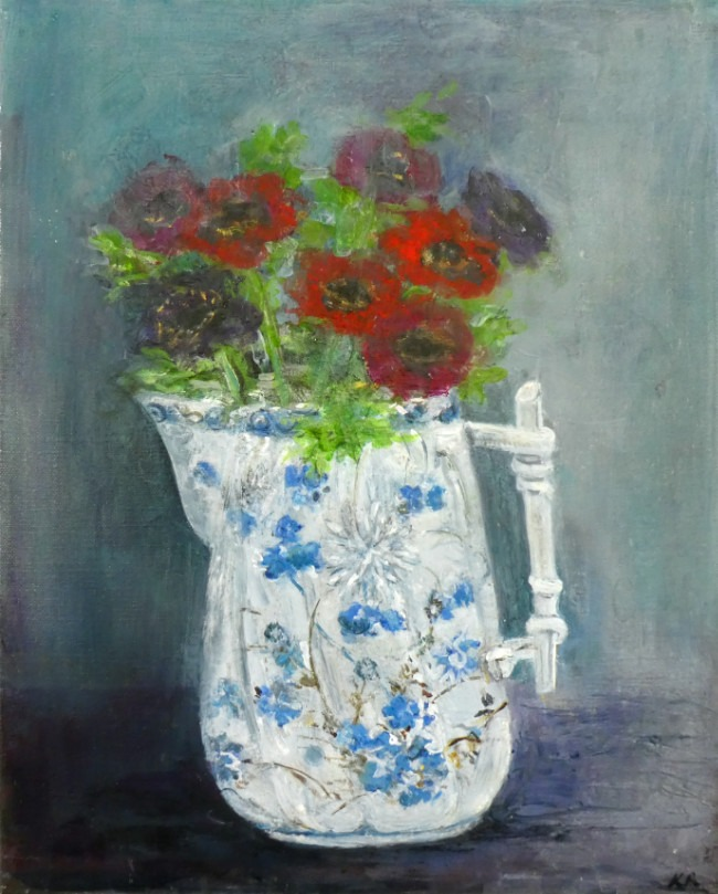Karen Edwards – A Blaze of Anemones
