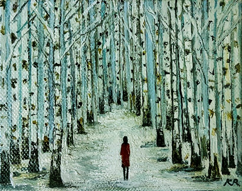 Karen Edwards – Snowy Birches