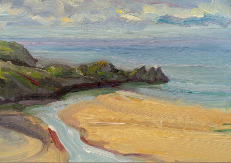 Lawrence Quigley – Three Cliffs Bay, Gower, Bright Morning