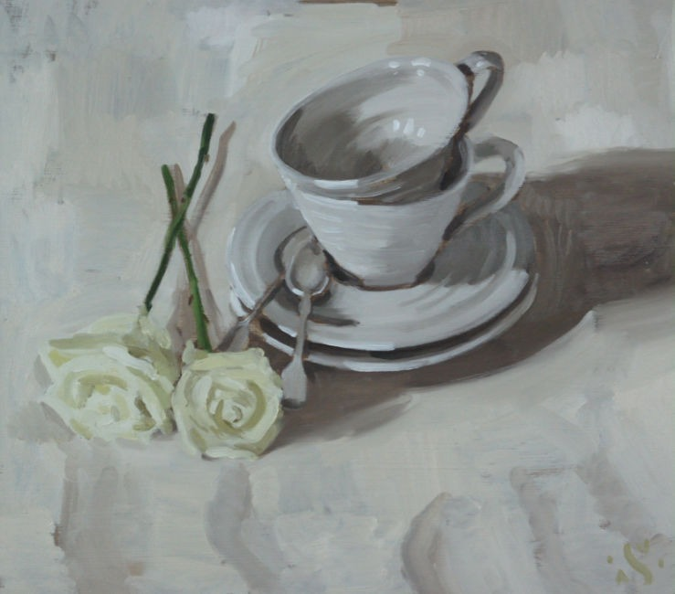 Sam Travers – Teacups and White Roses