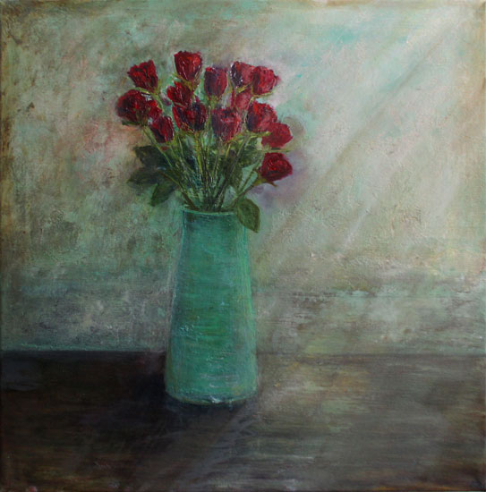 Karen Edwards – Vase of Red Roses