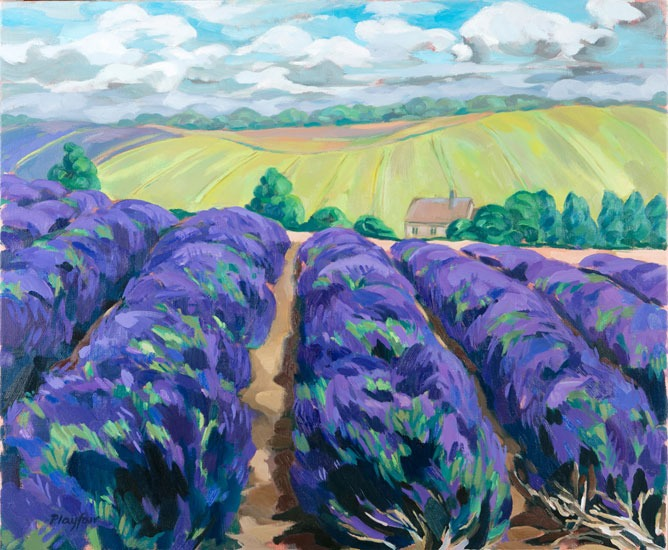 Annabel Playfair Lavender At Snowshill 1 30 X 36