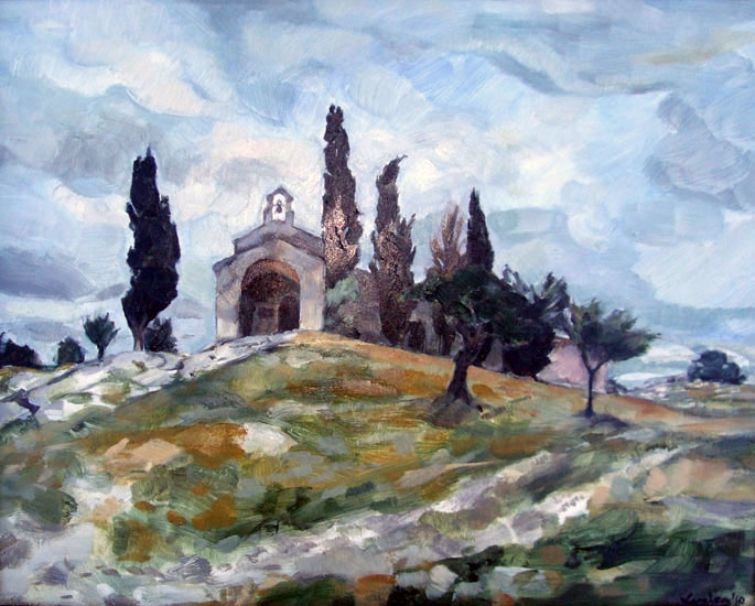 Lucien Rees Roberts – Chapel on the hill, Provence