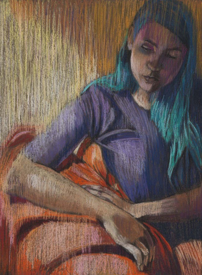 Em Isaacson – Girl with Blue Hair