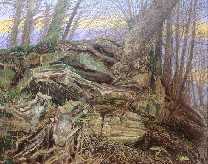 Maurice Sheppard – A Surreal Landscape in Memory of Dylan Thomas