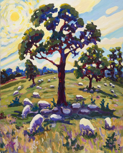 Lucy Pratt - Hot, Slow Grazers - Oil on Canvas - 30 x 24 inches