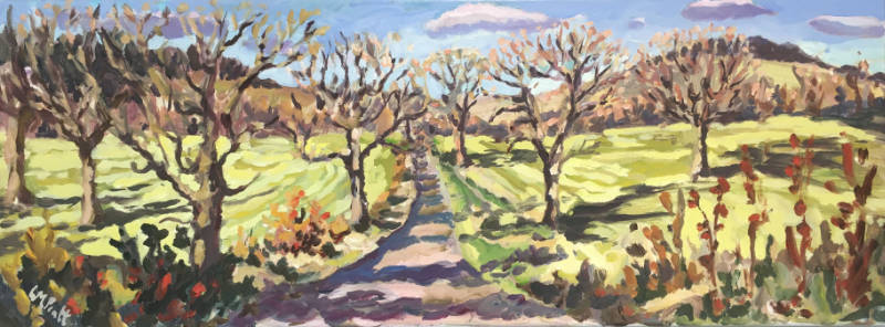 Lucy Pratt - Winter Trees - Oil on Canvas - 12 x 31.5 inches