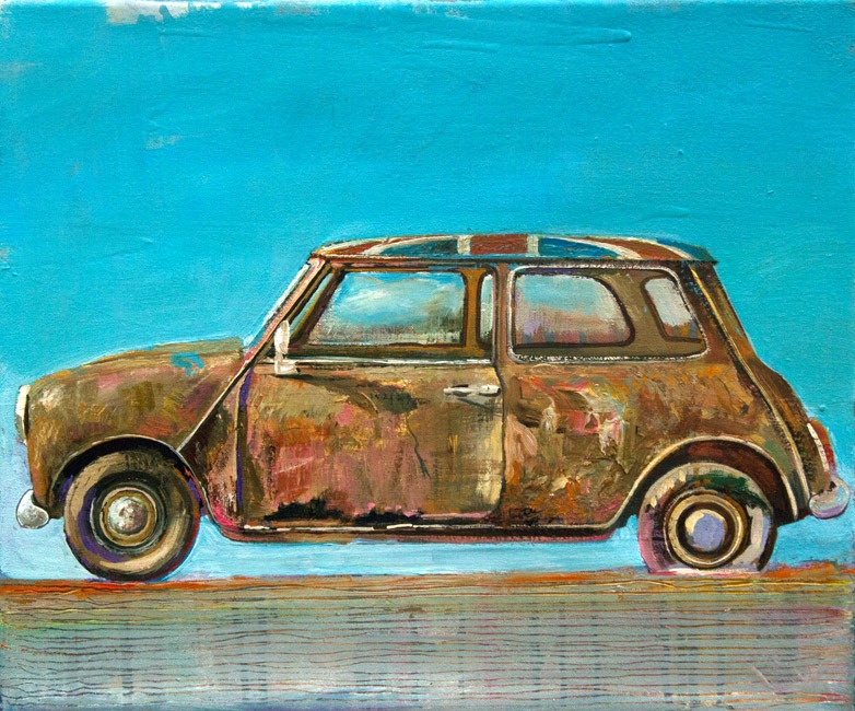 Alex Williams - English Car - Oil - 18 x 15 inches