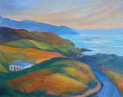 Annabel Carey - Going Home, Inishowen - Oil on Canvas - 8 x 10 inches