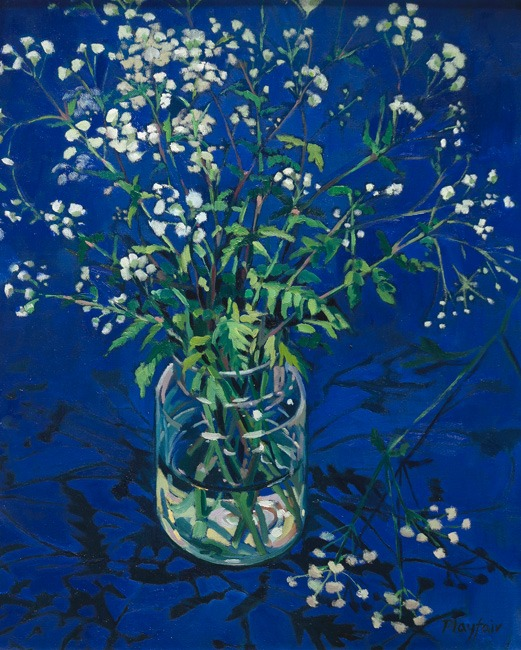 Annabel Playfair - Cow Parsley - Oil on Canvas - 24 x 20 inches