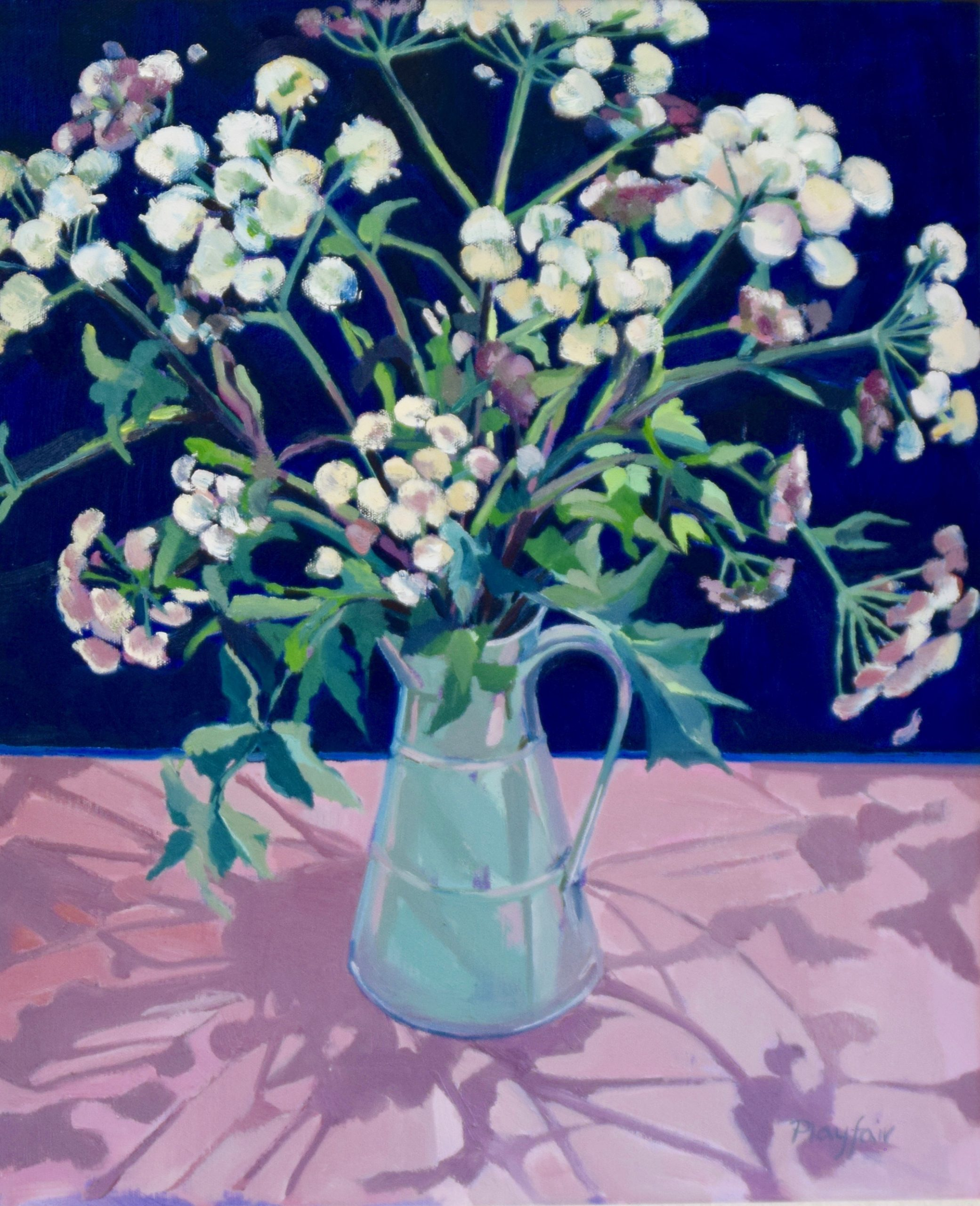 Annabel Playfair - Cowparsley - Oil - 24 x 20 inches