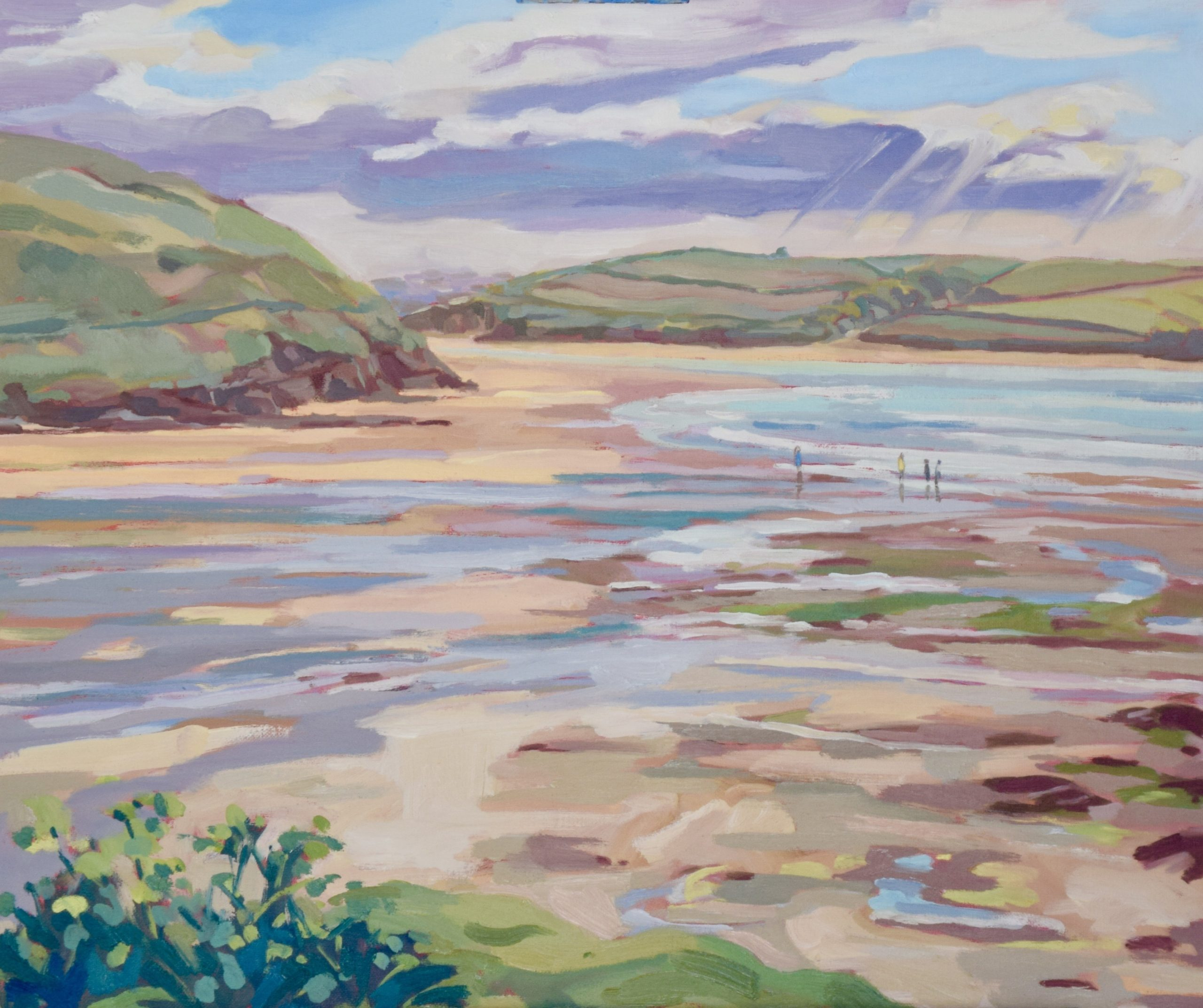 Annabel Playfair - Daymer Bay - Oil - 20 x 24 inches