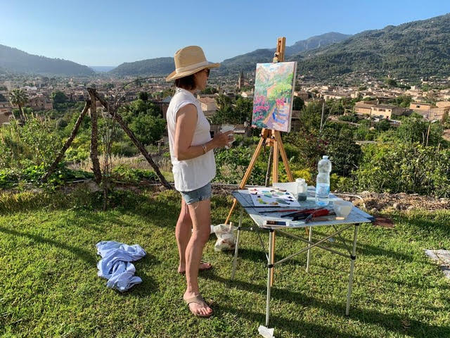 Annabel at the Easel