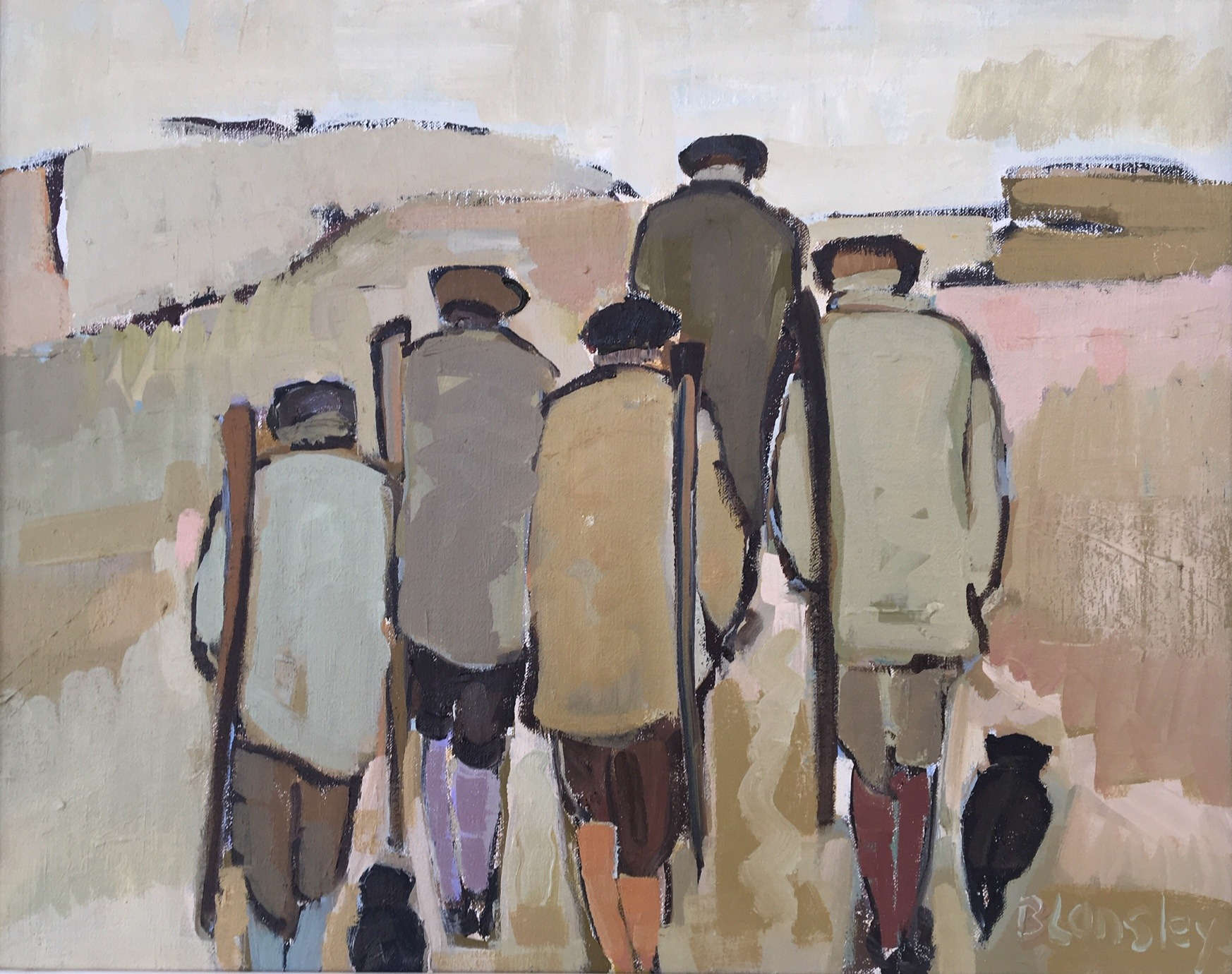 Bridget Lansley - On Their Way - Oil - 16 x 20 inches