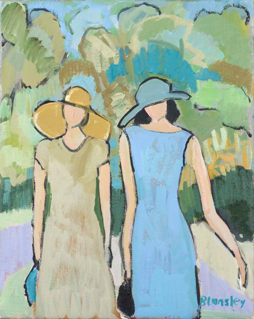 Bridget Lansley - Botanical Gardens - Oil - 20 x 16 inches