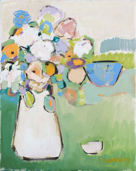 Bridget Lansley - Daisies Dance - Oil - 20 x 16 inches