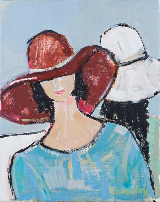 Bridget Lansley - Friendship - Oil - 20 x 16 inches