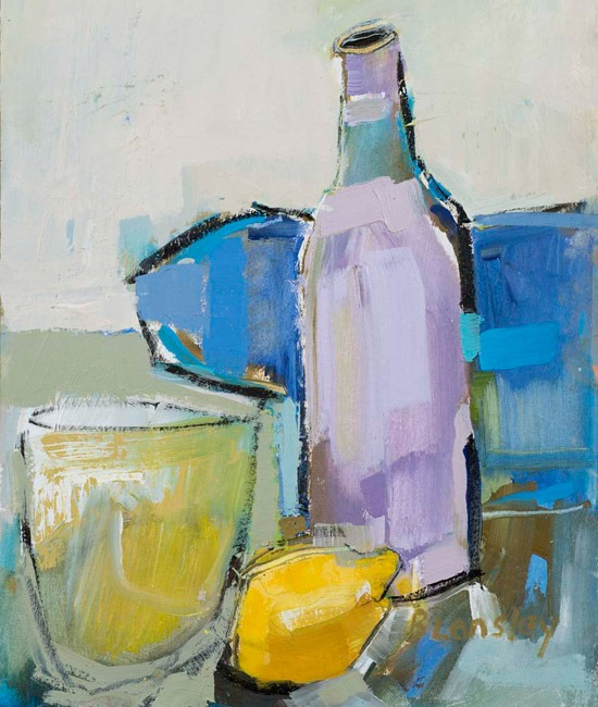 Bridget Lansley - G & T - Oil - 12 x 10 inches