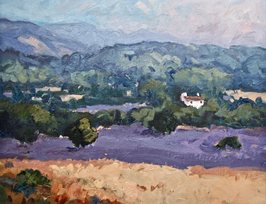 Gareth Thomas - Cottage in the Lavender, Valreas - Oil - 14 x 18 inches