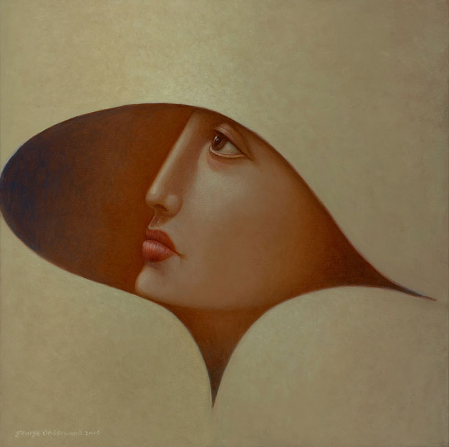 George Underwood - Ahead of the Curve - Oil on Canvas - 18 x 18 inches