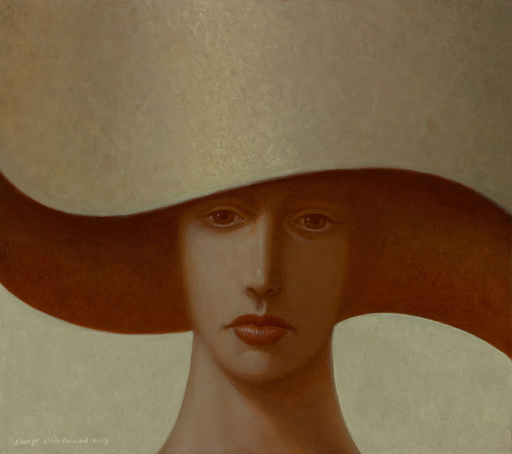 George Underwood - Amber - Oil on Canvas - 16 x 18 inches