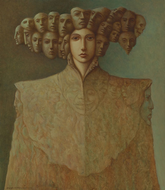 George Underwood - East of Paradise - Oil on Canvas - 27.25 x 31.5 inches