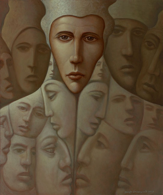 George Underwood - I Was Just Thinking - Oil on Canvas - 20 x 24 inches