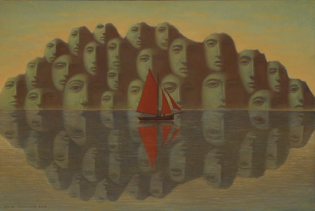 George Underwood - See Voyage - Oil on Canvas - 20 x 30 inches