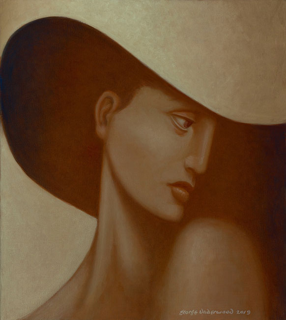 George Underwood - Shady Jane - Oil on Canvas - 16 x 18 inches