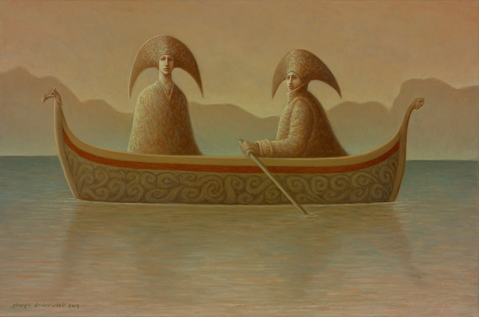 George Underwood - Still Waters - Oil on Canvas - 16 x 24 inches